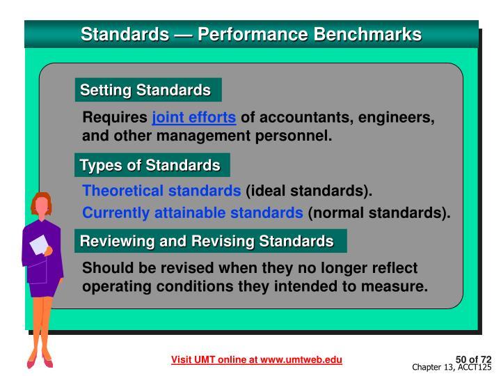 Standards — Performance Benchmarks