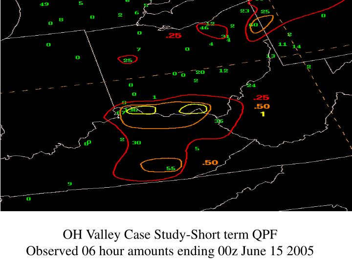 OH Valley Case Study-Short term QPF
