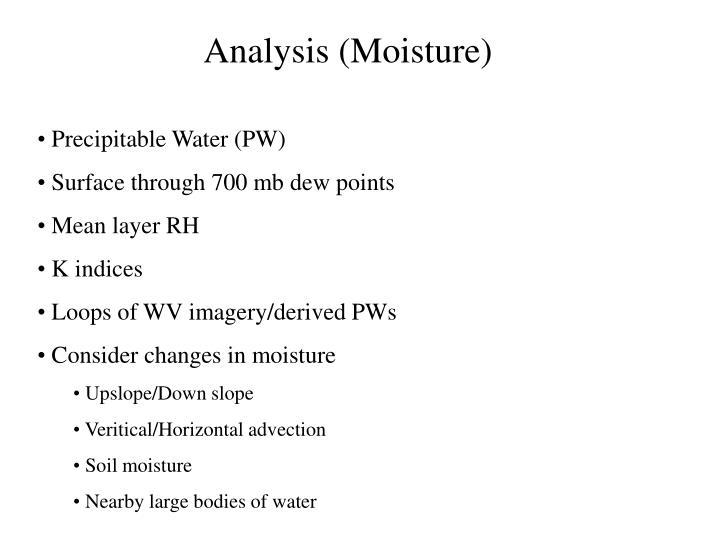 Analysis (Moisture)