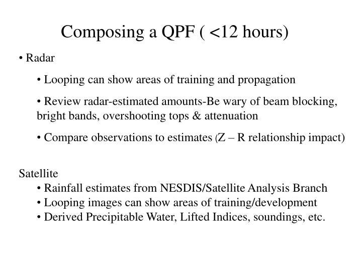 Composing a QPF ( <12 hours)