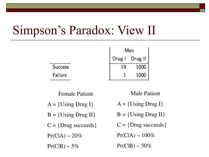 Simpson's Paradox: View II