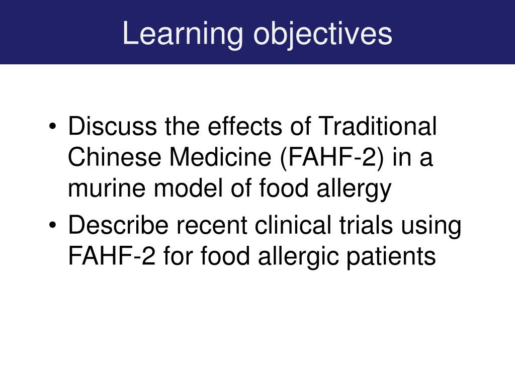 PPT - Chinese Herbal Medicine for Peanut/Food Allergy