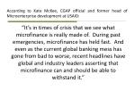 according to kate mckee cgap official and former head of microenterprise development at usaid