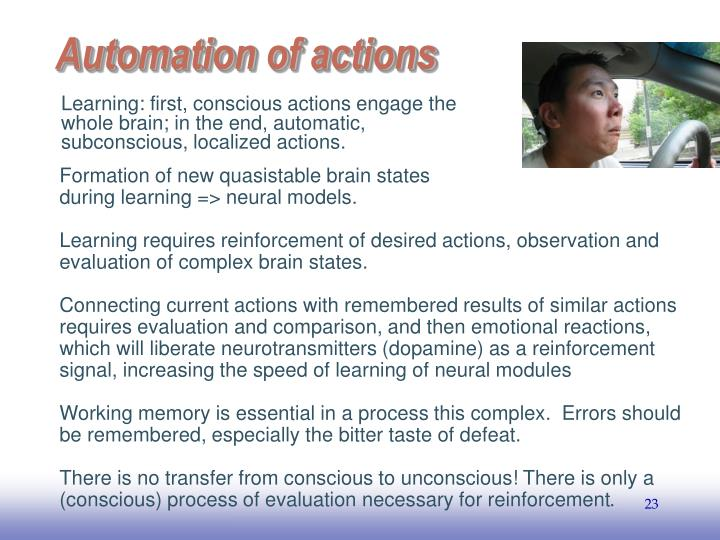 Automation of actions