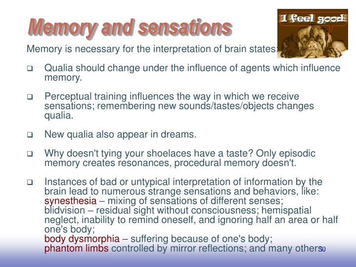 Memory and sensations