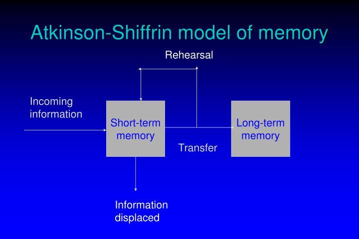 Atkinson-Shiffrin model of memory