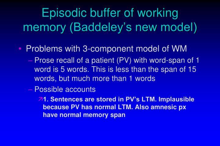 Episodic buffer of working memory (Baddeley's new model)