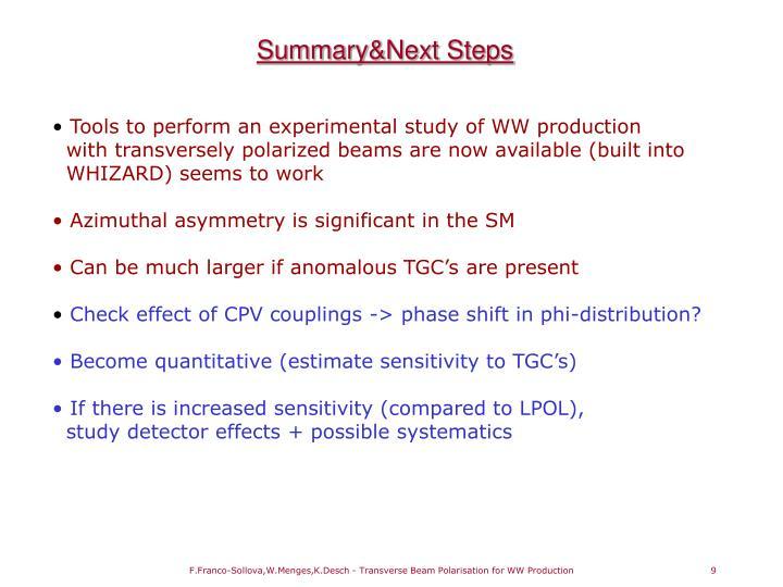 Summary&Next Steps