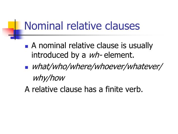 Nominal relative clauses