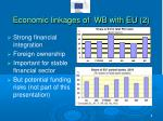 economic linkages of wb with eu 2