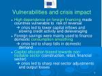 vulnerabilities and crisis impact