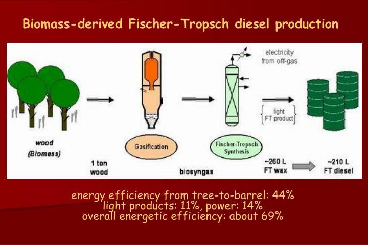 Biomass-derived Fischer-Tropsch diesel production