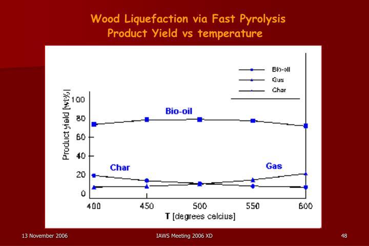 Wood Liquefaction via Fast Pyrolysis