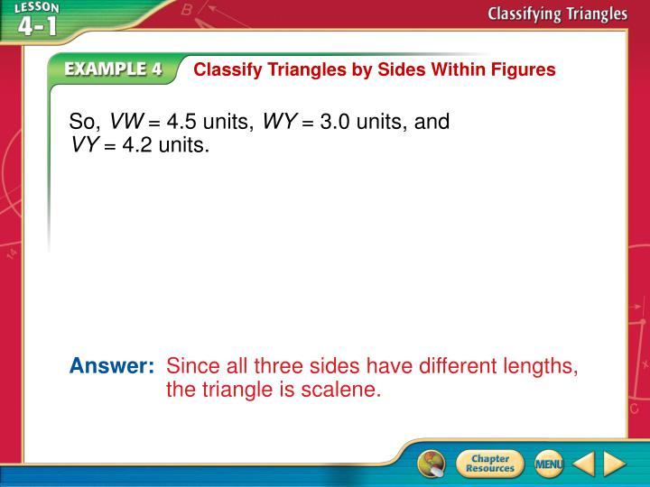 Classify Triangles by Sides Within Figures