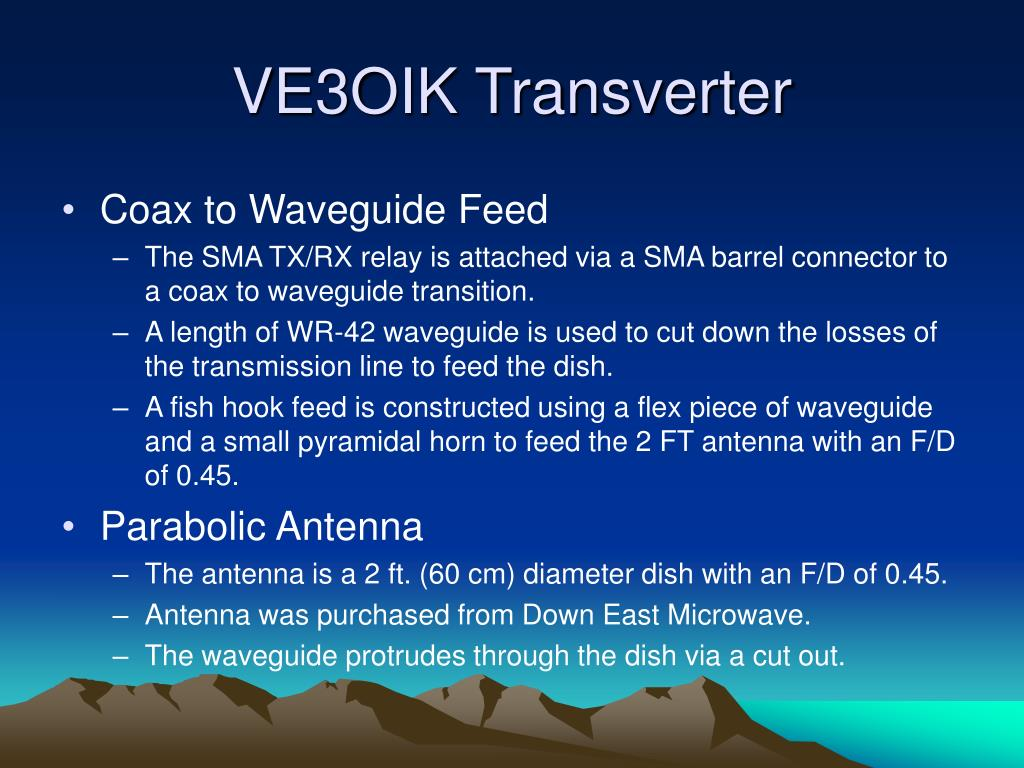 PPT - Transverters for 24 GHz CW & SSB PowerPoint