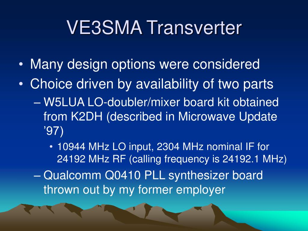 PPT - Transverters for 24 GHz CW & SSB PowerPoint Presentation - ID