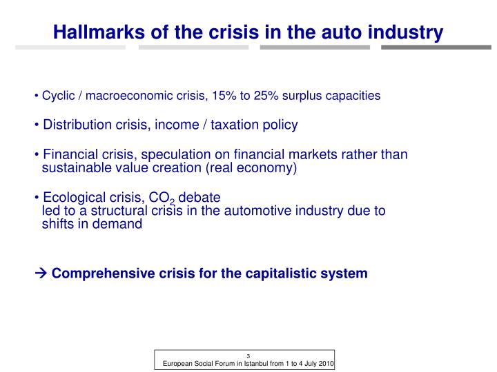 """effect of the financial crisis on the automotive industry The crisis the automobile industry is among the sectors  financial market conditions could provide  timing and the magnitude of this """"payback effect."""