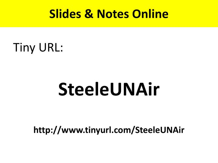 Slides notes online