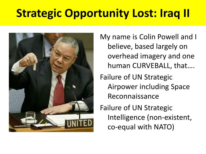 Strategic Opportunity Lost: Iraq II