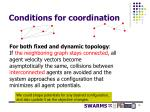 conditions for coordination