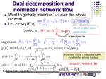 dual decomposition and nonlinear network flow