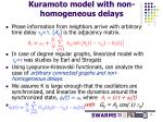 kuramoto model with non homogeneous delays