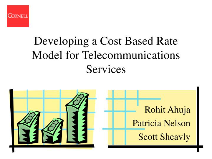 developing a cost based rate model for telecommunications services n.