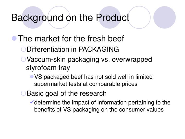 Background on the Product