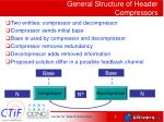 general structure of header compressors