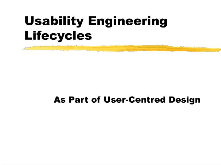usability engineering lifecycles n.