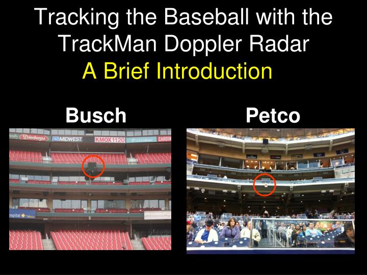 tracking the baseball with the trackman doppler radar n.