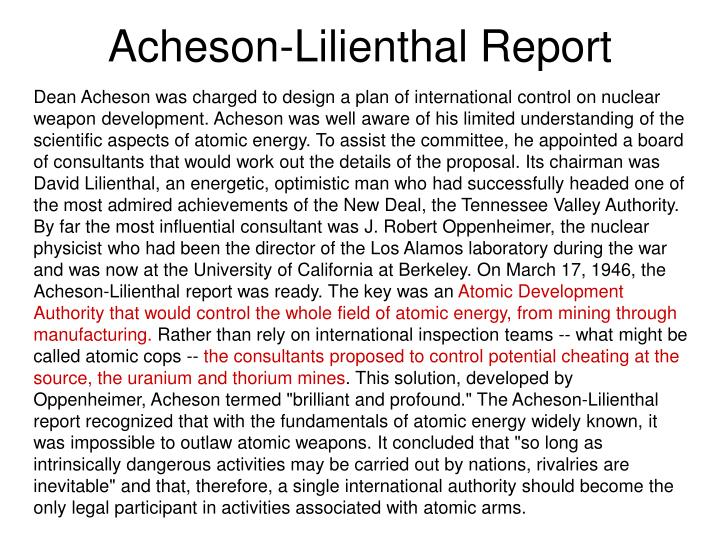 Acheson-Lilienthal Report