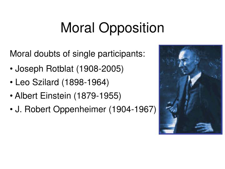 Moral opposition