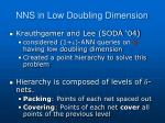 nns in low doubling dimension