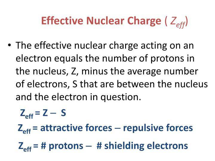 Ppt the history of the modern periodic table powerpoint effective nuclear charge zeff urtaz Image collections