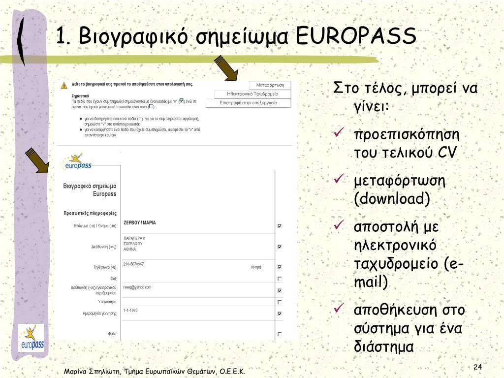 64a1ad6a383 PPT - Το Εθνικό Κέντρο Europass (Ε.Κ.Ε.) και τα Έγγραφα EUROPASS ...