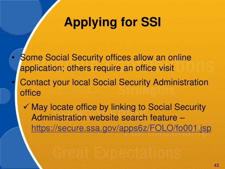 Applying for SSI