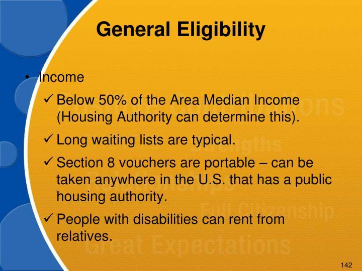 General Eligibility