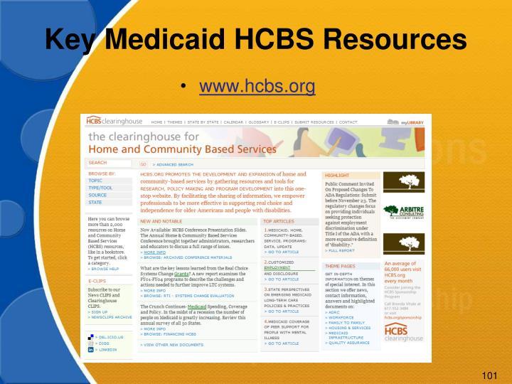 Key Medicaid HCBS Resources