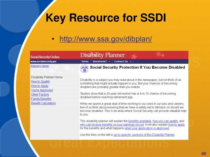 Key Resource for SSDI