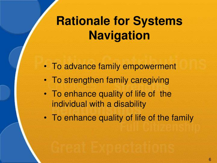 Rationale for Systems Navigation