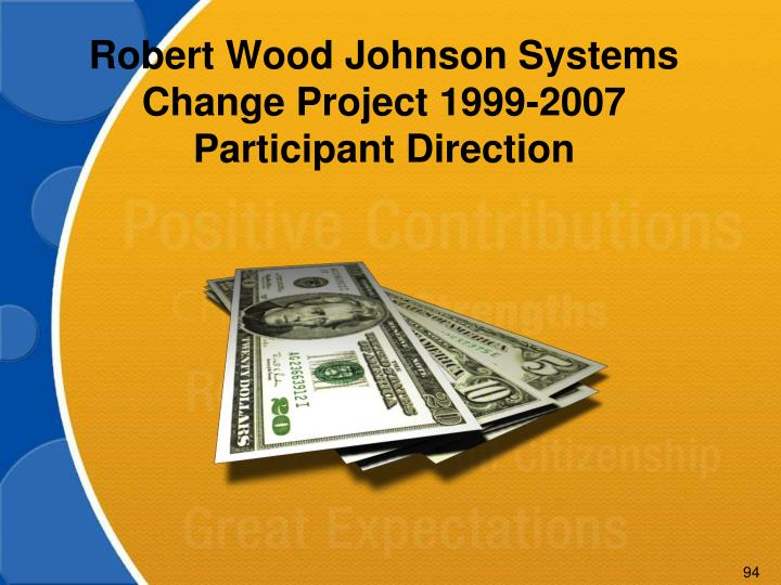 Robert Wood Johnson Systems Change Project 1999-2007 Participant Direction