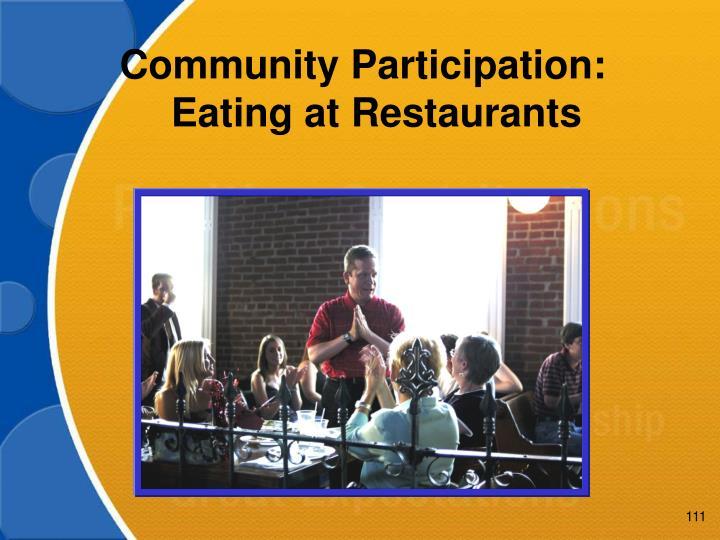 Community Participation:
