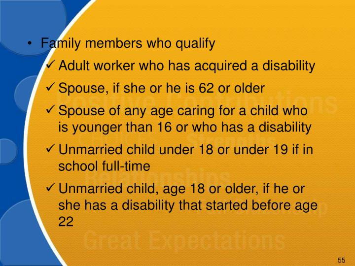Family members who qualify