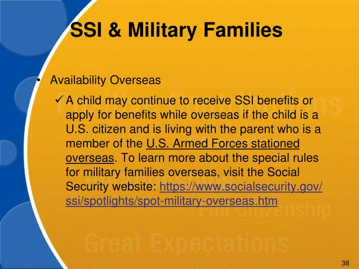 SSI & Military Families