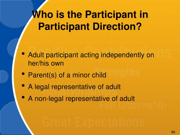Who is the Participant in