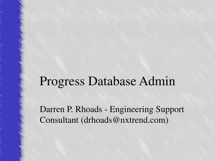 progress database admin n.
