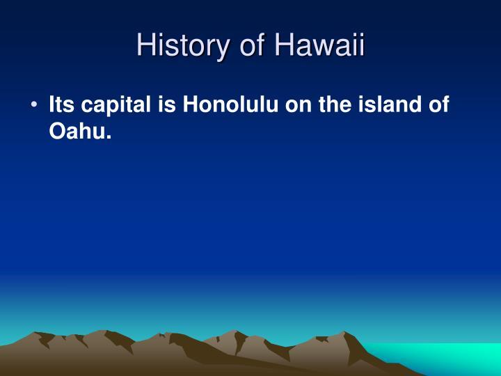 History of Hawaii