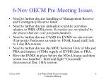 6 nov oecm pre meeting issues