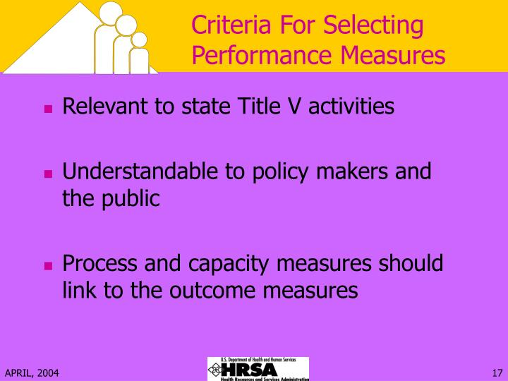 Criteria For Selecting